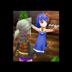 Люнет и Танцовщица в <i>Final Fantasy III</i> (iOS).
