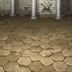 Fundo de batalha na pousada (PSP).