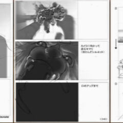 Kimahri's entrance FMV storyboard.