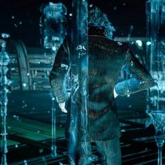Ноктис, окруженный королевским оружием в <i>Final Fantasy XV</i>.