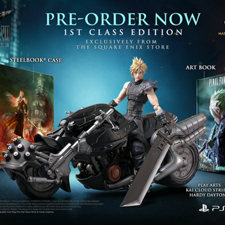 Hardy-Daytona statue included with <i>Final Fantasy VII Remake</i> First Class Edition.