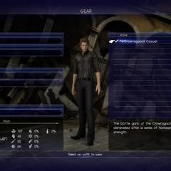 Gear menu.
