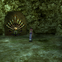 The ancient machina at the Mushroom Rock ravine in <i>Final Fantasy X-2</i>.