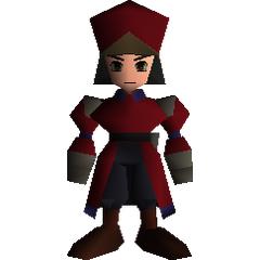 Shinra officer field model in <i>Final Fantasy VII</i>.