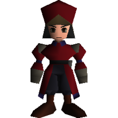Shinra officer field model in <i>Final Fantasy VII</i>.