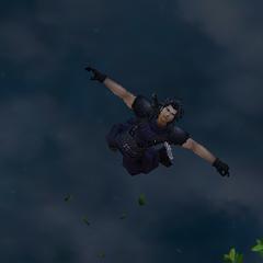 Zack jumping.
