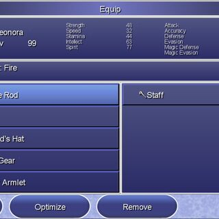 The Equip menu in the Steam version.