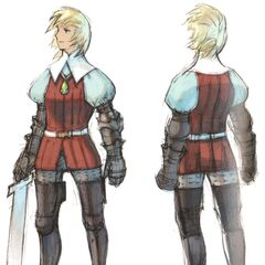 Concept art of Ingus by Akihiko Yoshida.