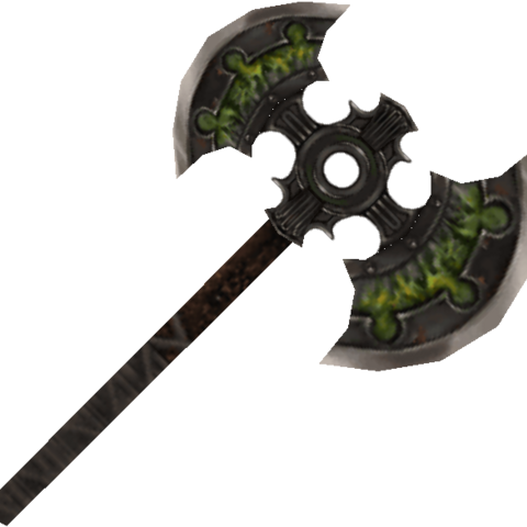 Striker's axe.