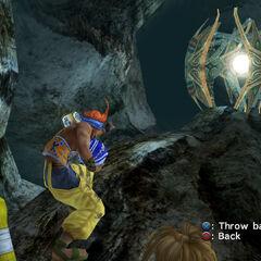 O minigame de Wakka em Mt. Gagazet.