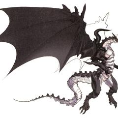 Арт Бахамута от Акиры Огуро для <i>Final Fantasy IV</i> (DS).