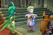 Edge and Rydia in the wedding ffiv ios