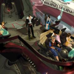 The party pilots <i>Ragnarok</i>.