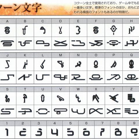 Cocoon alphabet.