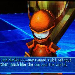Um dos Guerreiros das Trevas em <i>Final Fantasy III</i> (DS).
