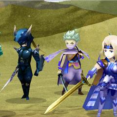 Экран победы в пустыне у замка (DS).
