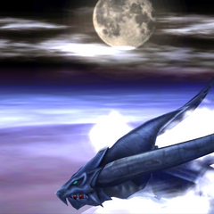 Bahamut flying.