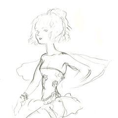 Набросок Терры работы Ёситаки Амано.
