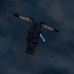 Zack pulando.