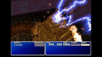 Judgement Bolt - Ramuh summon sequence - FFVII
