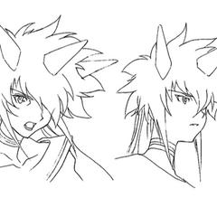 Facial sketches.