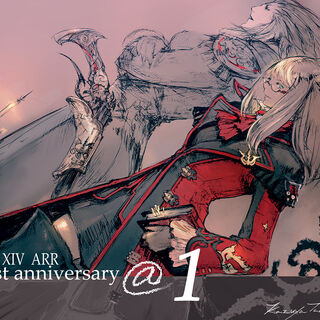 Artwork for Final Fantasy XIV Online Anniversary.