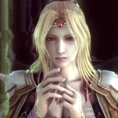 Rosa in the FMV opening of <i>Final Fantasy IV</i> (DS/PSP).