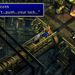 Sephiroth impales Cloud with Masamune in <i>Final Fantasy VII</i>.