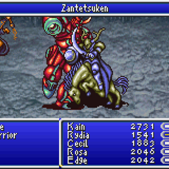 Zantetsuken as a summon ability in <i><a href=