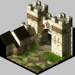 Inside Castle Gate in Lesalia.
