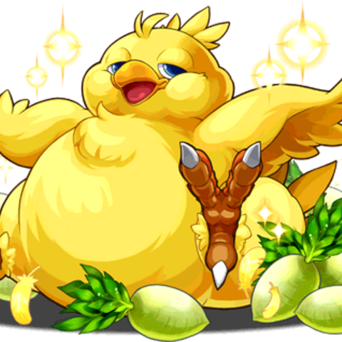 Capricious Summon, Fat Chocobo evolution.