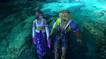 Yuna and Tidus after their romance scene