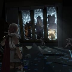 The Estheim Residence under attack.