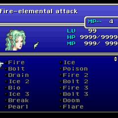 The Magic menu (SNES).