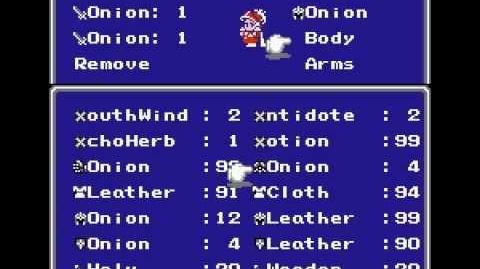 Final Fantasy III - Item upgrade - Onion Sword