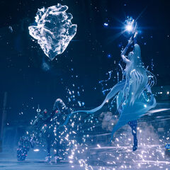 Shiva uses an ice attack.