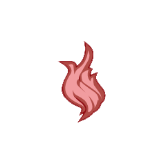 Fire deposit icon.