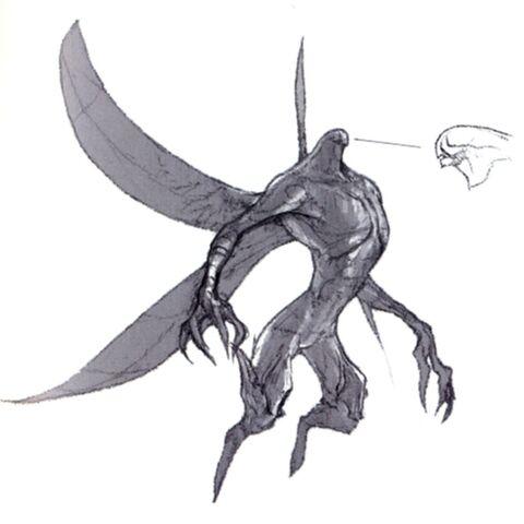 Concept art of an Aern.