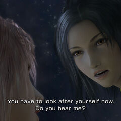 Lebreau and Serah in <i>Final Fantasy XIII-2</i>.
