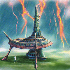 Lightning Tower artwork for <i>Final Fantasy X</i>.