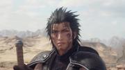 Zack injured from Final Fantasy VII Remake