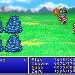 Flame Sword in <i>Final Fantasy II</i> (GBA).