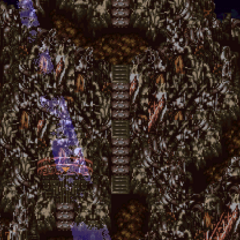 The peak of Kefka's Tower, where Demon is fought (SNES).