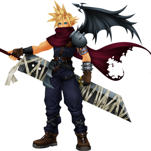 Cloud's <i>Kingdom Hearts</i> appearance, based on Vincent.