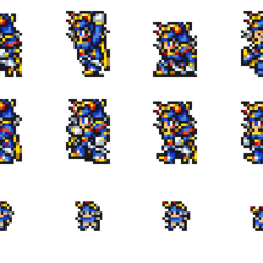 Warrior of Light sprites.