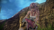 FFXIII-2 Serah & Snow the Cat