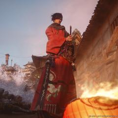 Como um Samurai na abertura de <i>Stormblood</i>.