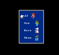 FF NES Row Menu