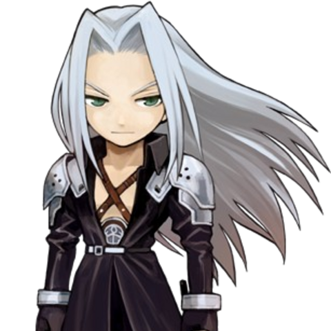 Sephiroth in <i>Itadaki Street Portable</i>.