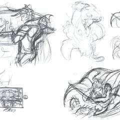 Conceptual sketches for <i><a href=